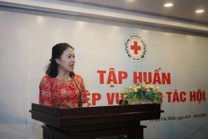 Hội Chữ thập việt Nam tập huấn nghiệp vụ công tác các tỉnh, thành Hội khu vực phía Nam