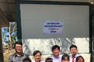 MobiFone bàn giao công trình nhà ở bán trú xây tặng học sinh vùng cao xã Trung Thu