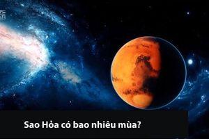 Lạ: Sao Hỏa có bao nhiêu mùa?
