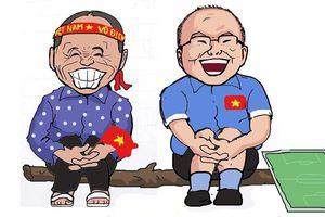 Biếm họa 24h: CĐV Việt Nam muốn được ăn 'lẩu Thái siêu to khổng lồ'