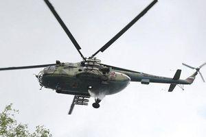 Gãy bánh đáp, trực thăng Mi-8 rơi ở Nga