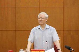 Tổng Bí thư, Chủ tịch nước chủ trì cuộc họp Tiểu ban Văn kiện Đại hội Đảng XIII