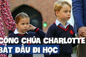 'Công chúa bé' nước Anh gây sốt trong ngày đầu tiên đi học
