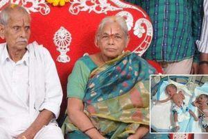 Cụ bà 74 tuổi sinh đôi hai con đầu lòng