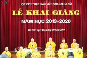 Học viện Phật giáo Việt Nam tại Hà Nội khai giảng năm học 2019-2020