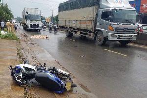 Xe container cán chết thầy giáo ở Đồng Nai rồi bỏ chạy
