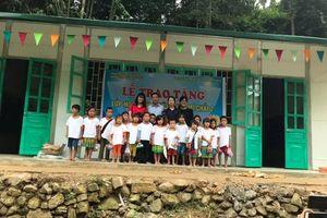 Thủ Đô Multimedia trao tặng hai lớp học tại điểm trường vùng cao khó khăn tại Séo Mí Chải và Huê Đeng