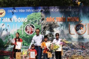 Trao giải cuộc thi 'Một hành động nhỏ với rác thải nhựa lớn'