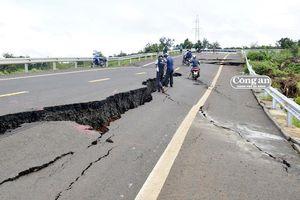 Bộ GTVT yêu cầu kiểm tra đường gần 250 tỷ đồng chưa bàn giao đã sụt lún