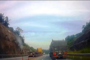 Xác minh xe container cố tình đi ngược chiều cao tốc dài nhất Việt Nam