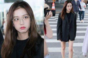 Blackpink Jisoo xinh đẹp tỏa sáng ở sân bay, nhưng gu thời trang lại bị chê già chát