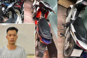 Bắt thanh niên dùng dao tấn công, cướp hàng loạt xe ôm công nghệ ở Hà Nội