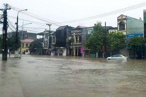 TP.Thái Nguyên ngập lụt sau trận mưa lớn