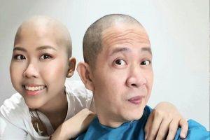 Đạo diễn 'Những ngọn nến trong đêm' cạo đầu, hiến tủy cho con gái ung thư