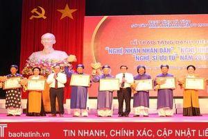 9 cá nhân ở Hà Tĩnh được phong tặng Nghệ nhân nhân dân, Nghệ nhân ưu tú, Nghệ sỹ ưu tú