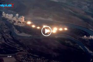Video máy bay chiến đấu F-15 và F-35 của Mỹ dội 36 tấn bom vào các mục tiêu IS