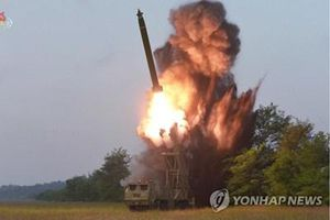 Triều Tiên công bố ảnh 'độc' pháo phóng loạt siêu to mới đúng ngày 11/9
