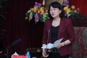 Phó Chủ tịch nước Đặng Thị Ngọc Thịnh làm việc tại tỉnh Bắc Kạn