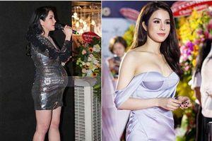 2 lần đón tài tử Hàn là 2 lần Diệp Lâm Anh khoe dáng bằng loạt váy áo táo bạo, ngay cả khi bụng bầu vượt mặt cũng không ngại diện váy bó