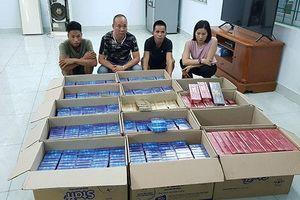 Tạm giữ bốn đối tượng vận chuyển gần 7 nghìn bao thuốc lá nhập lậu