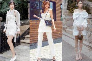 Chẳng hẹn mà gặp, loạt mỹ nhân Việt cùng diện đồ trắng xuống phố mùa Thu