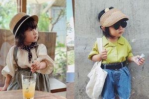 Con nhà người ta: Hơn 3 tuổi biết diện đồ chất lừ, tự mix phụ kiện chẳng thua fashionista