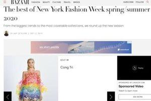 NTK Công Trí liên tục xuất hiện trên Tạp chí Vogue, Harper Bazaar Mỹ
