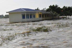 Đỉnh lũ đầu nguồn sông Cửu Long có khả năng đạt trên mức báo động 1