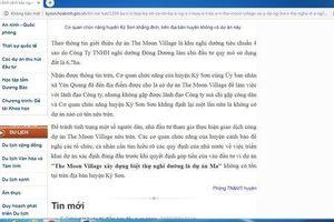 Hòa Bình: Dự án The Moon Village tại Kỳ Sơn là dự án 'ma'