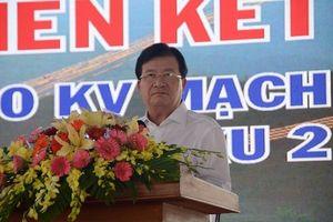 Phó Thủ tướng Trịnh Đình Dũng phát động thi đua liên kết thi công xây dựng các công trình đường dây 500 kV (mạch 3)