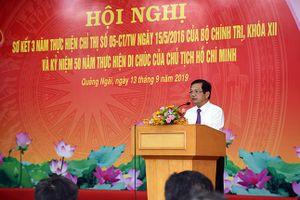 Quảng Ngãi: Thực hiện Chỉ thị 05 của Bộ Chính trị và 50 năm thực hiện Di chúc Chủ tịch Hồ Chí Minh