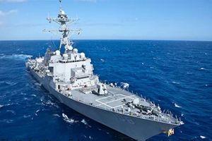Tàu khu trục Mỹ áp sát Hoàng Sa giữa lúc Biển Đông căng thẳng
