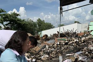 Không khởi tố vụ án cháy kho lưu trữ tài liệu xe buýt
