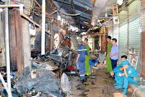 Cháy chợ Bình Long nghi do đốt vàng mã, thiệt hại hàng tỷ đồng