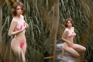 Ngọc Trinh tạo dáng hững hờ với bikini nhỏ xíu, nhận nhiều chỉ trích