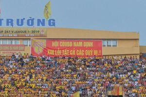 Sân Thiên Trường thắt chặt an ninh, CĐV Nam Định xin lỗi sau sự cố pháo sáng