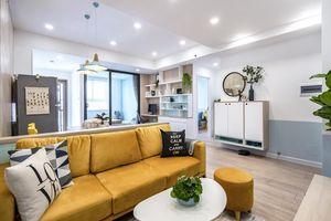 Căn hộ 65m² đẹp như nhà mẫu với điểm nhấn màu vàng và xanh mint rất trẻ trung của gia đình 3 người ở Quận 9, TP. HCM