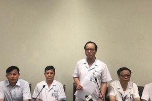 BV Nhi Trung ương thông tin sức khỏe em bé bị bỏ quên trên ô tô