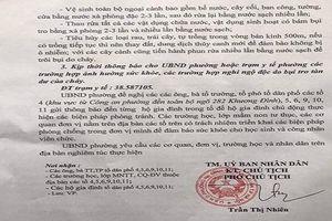 'Quận Thanh Xuân không yêu cầu phường Hạ Đình thu hồi văn bản cảnh báo người dân'