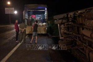Xe tải tông trực diện xe máy, 2 người chết, một người nguy kịch