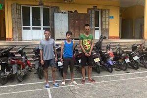Bắt 3 đối tượng gây ra 20 vụ trộm cắp xe máy tại Thanh Hóa