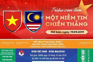 10h ngày mai 19-9, VFF mở bán 27.000 vé trận Việt Nam - Malaysia