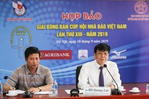 Gần 200 VĐV tranh tài Giải Bóng bàn Cúp Hội Nhà báo Việt Nam 2019