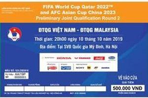 Ngày 19-9 mở bán vé online trận Việt Nam gặp Malaysia