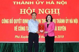 Điều động Giám đốc sở Khoa học&Công nghệ giữ chức Bí thư Huyện ủy Phú Xuyên