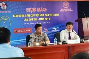 Gần 200 tay vợt tham gia Giải bóng bàn cúp Hội nhà báo Việt Nam lần thứ XIII