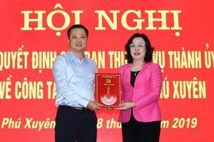 Giám đốc Sở Khoa học và Công nghệ Hà Nội làm Bí thư Huyện ủy Phú Xuyên