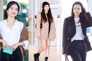 Dàn mỹ nhân Hàn gây bão sân bay: Jisoo lấn át 'Hoa hậu Hàn đẹp nhất thế giới', diễn viên vô danh gây chú ý vì quá xinh