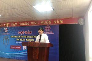 Giải bóng bàn Cúp Hội Nhà báo Việt Nam lần thứ XIII năm 2019: Nói 'không' với rác thải nhựa khi thi đấu