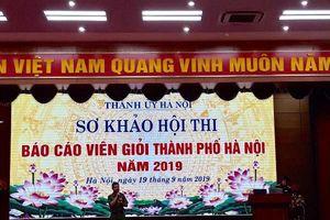 Sơ khảo hội thi báo cáo viên giỏi Cụm thi đua số IV - Thành phố Hà Nội